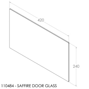Jayline Door Glass (420x240x5mm) (Pre2002 - Fits Retainer 110508)