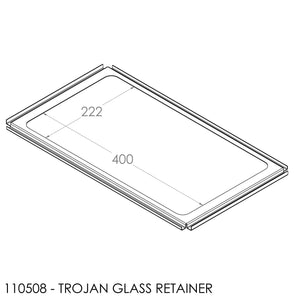 Jayline Classic Glass Retainer (Press Fit) 460x265mm