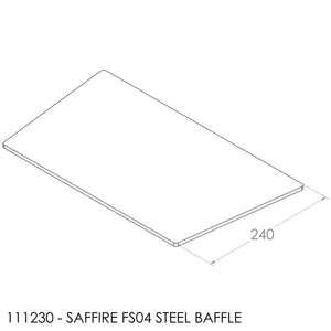 JAYLINE SAFFIRE BAFFLE 422/362X240X6MM STEEL +2001