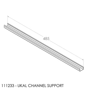 JAYLINE BAFFLE SUPPORT SS CHANNEL F/S I/B FOR 20mm