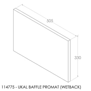 JAYLINE UKAL 1993 BAFFLE 505X330X20mm (PBS0070)