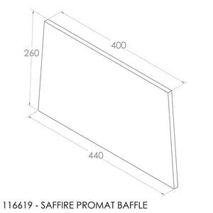 JAYLINE SAFFIRE 1996-2000 BAFFLE 440/397X265X12mm (PBS0089)