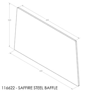JAYLINE SAFFIRE BAFFLE 440/397X265 (6mm STEEL) 1996-2000
