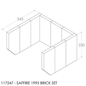 (BOM) JAYLINE BRICK SET 22MM SAFFIRE (9)