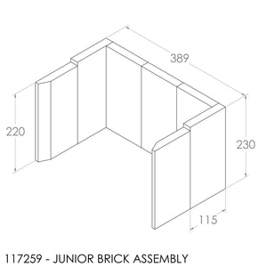 (BOM) JAYLINE BRICK SET 22MM GEM/JUNIOR (9)