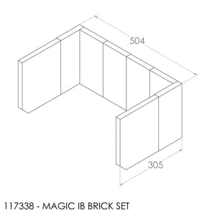 (BOM) JAYLINE BRICK SET 22MM CLASSIC/MAGIC 22MM (8)