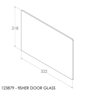Fisher Door Glass Single (322x218x5mm)