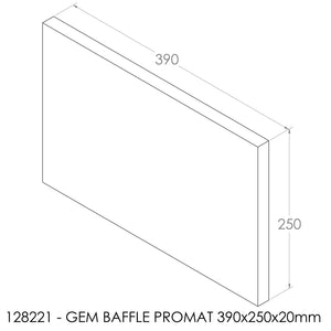 JAYLINE GEM 1998 BAFFLE 250X390X20mm (PBS0076)