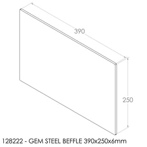 JAYLINE GEM BAFFLE 390X250X6MM STEEL
