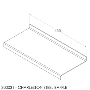 Fisher Charleston Baffle - Steel (460x192x6mm)