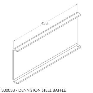 Fisher Denniston Baffle - Steel (433x197x6mm)