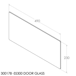Jayline Door Glass (403x200mm) (SS280,SS200,SS300)