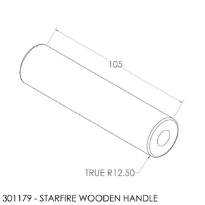 JAYLINE STARFIRE IB DOOR HANDLE - WOODEN