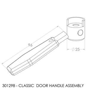 Jayline Classic/Trojan/Spitfire Door Handle - Complete