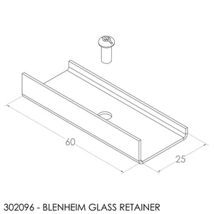 Fisher Single Door Glass Retainer (Inc Screw) (Set Of 3)