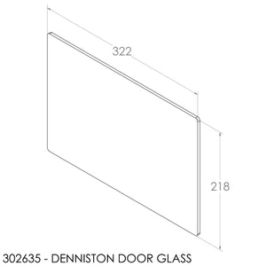 Fisher Door Glass - Single (Inc Fisher Logo) (322x218x5mm)