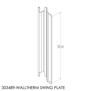 Jayline Walltherm SS Swing Plate Above Door