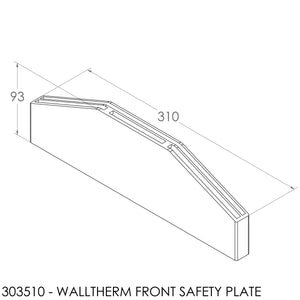 JAYLINE WALLTHERM SS FRONT SAFETY PLATE