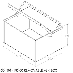 Jayline FR400 Removable Ash Box