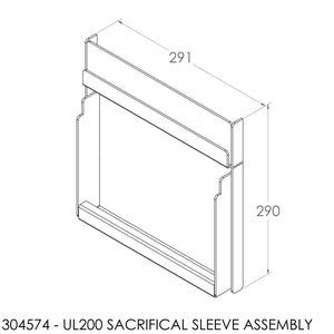 Jayline UL200 Lower Chamber Sacrificial S/S Sleeve Assembly