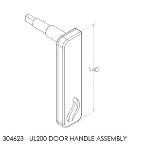 Jayline UL200 Door Lever Synthetic Assembly (inc nut)
