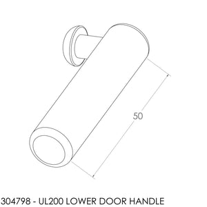 (BOM) Jayline UL200 Lower Door Lock Handle & Screw