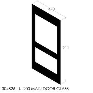Jayline UL 200 Front Door Glass (Black Painted)