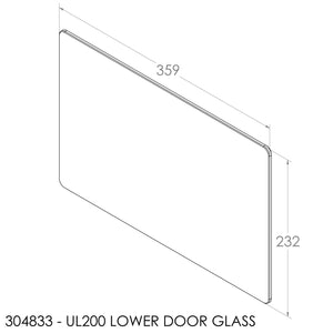 Jayline UL200 Lower Door Glass (IR Max)
