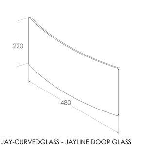 JAYLINE DOOR GLASS FOR 2002 CURVED DOOR (SFS00204)