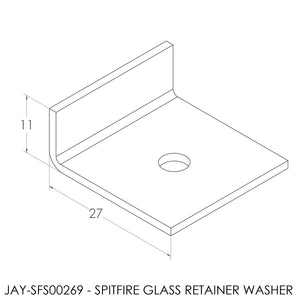 JAYLINE SPITFIRE CURVED GLASS RETAINER WASHER