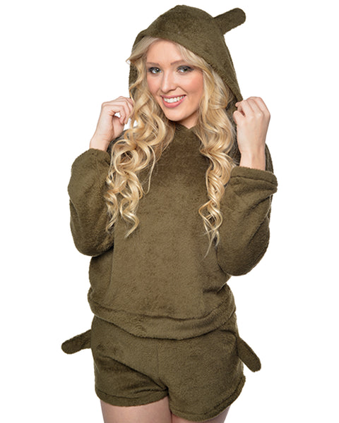 Meow Pajama Dark Green