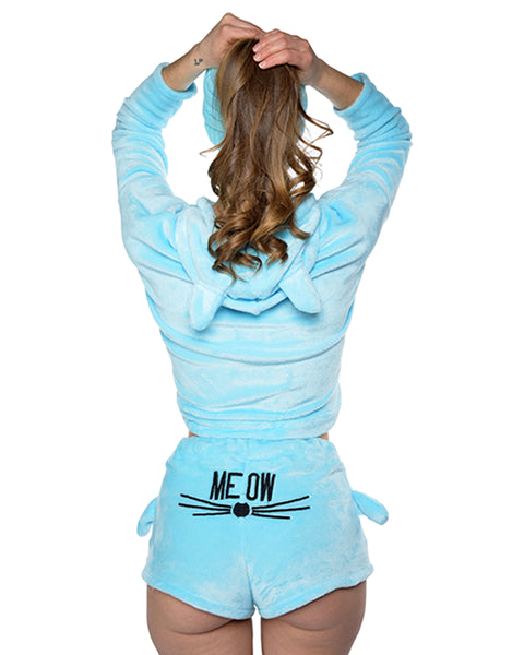 Meow Pajama Light Blue
