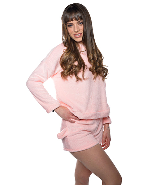 Meow Pajama Light Pink