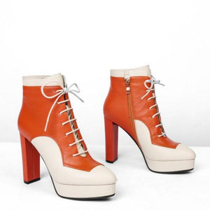 Women's Genuine Leather Platform Boots