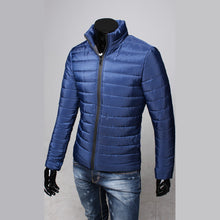 Load image into Gallery viewer, Mens Cotton Stand Puffer Style Thick Zipper Coat Jacket