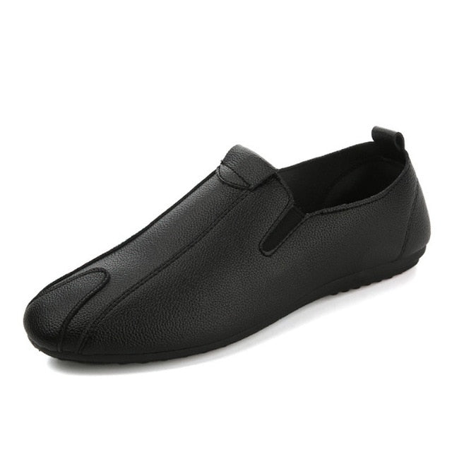 Mens Casual Soft Leather Designer Style Slip-On Dress Shoes In 3 Colors