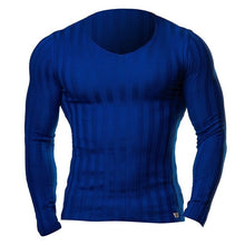 Load image into Gallery viewer, Mens Crossfit Knitted Bodybuilding Long Sleeve Fitted Muscle Tee