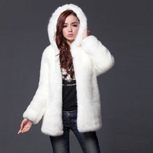 Load image into Gallery viewer, Womens Thick Faux Fur Medium - Long Hooded Winter Coat