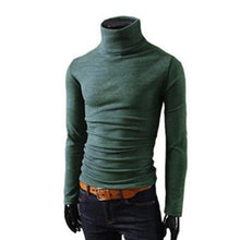 Load image into Gallery viewer, Mens Knitted Turtleneck Knitted Pullover Sweater In 8 Colors