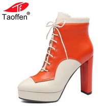 Load image into Gallery viewer, Women's Genuine Leather Platform Boots