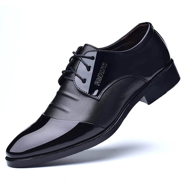 Mens Classic Casual Soft Leather Oxford Shoes In 2 Colors