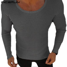 Load image into Gallery viewer, Mens Long Sleeve Casual Lightweight Muscle Tee Fitted Sweater / 3 Colors