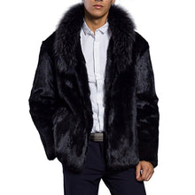 Load image into Gallery viewer, Mens Faux Fur Coat