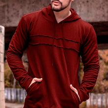 Load image into Gallery viewer, Mens Ripped Patchwork Hoodie