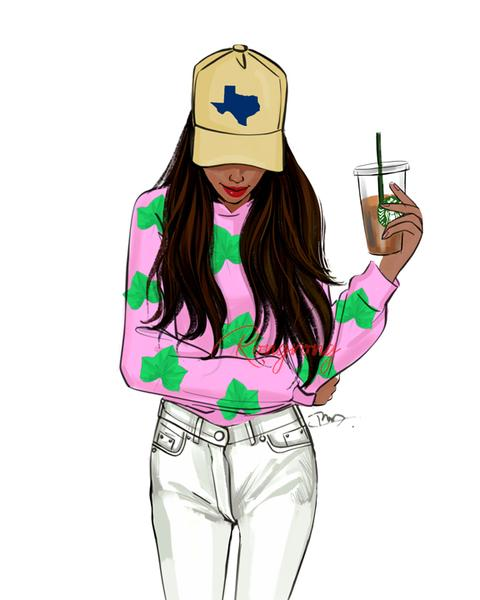 AKA Texas Hat Art Print