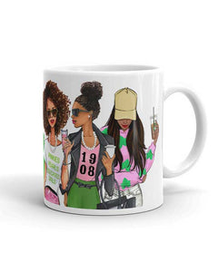 AKA Sorority Coffee Mug - Two Pack