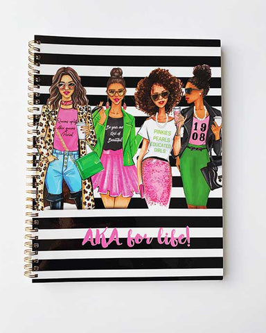 AKA Sorority for Life Notebook - Two Pack