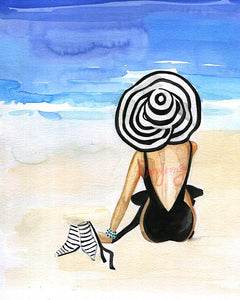 Beach is Calling Art Print