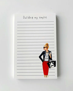 Building My Empire Notepad - Blonde - Two Pack