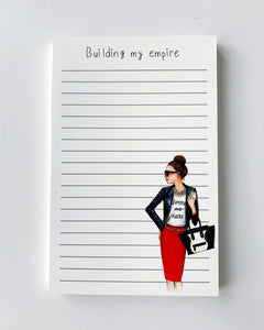 Building My Empire Notepad - Brunette - Two Pack